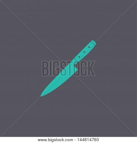 Knife Icon. Flat