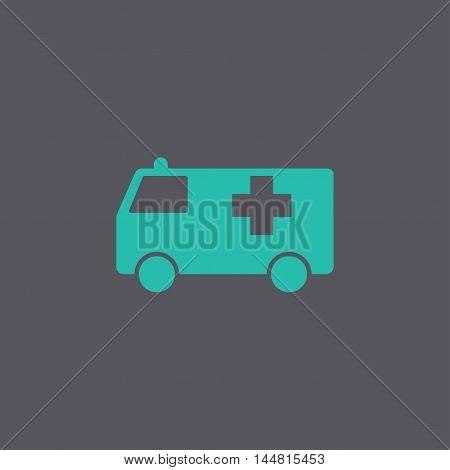 Ambulance Icon. Flat