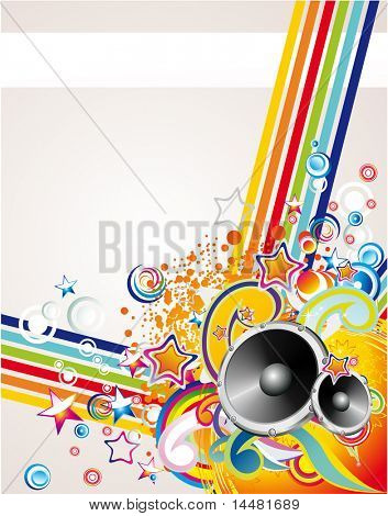 Dance and Music Event Background for poster or brochure