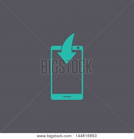 Mobile Phone Download Icon.