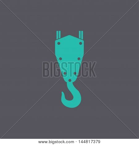 Crane Hook Vector Icon