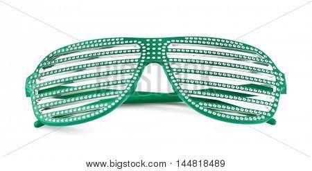Stylish glasses, isolated on white