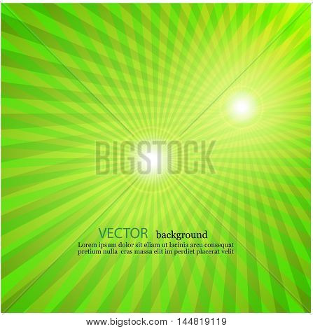 light green rays star burst television vintage background EPS10