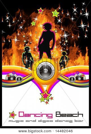 Disco Dance Background for Music Event Flyers