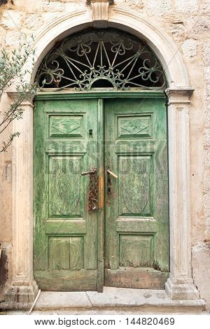 Entrance to the old house in medieval Kotor town, Montenegro