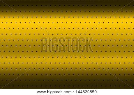 yellow chrome metallic mesh. metal background and texture. 3d illustration.