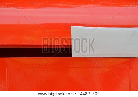 letter in red iron mail box background