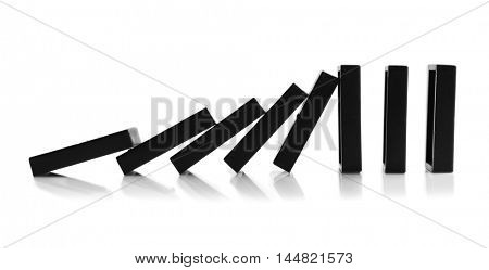 Dominoes on white background