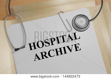 Hospital Archive - Medical Concept