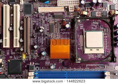 Motherboard detail, closeup