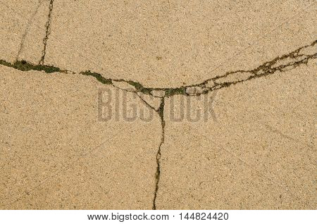 abstract fractured concrete surface texture and background.