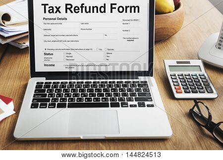 Tax Refund Form Concept