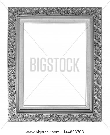 antique frame isolated on white background .