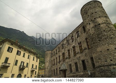 Chiavenna (Sondrio Lombardy Italy): the historic castle