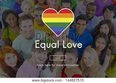 LGBT Equal Rights Rainbow Symbol Concept