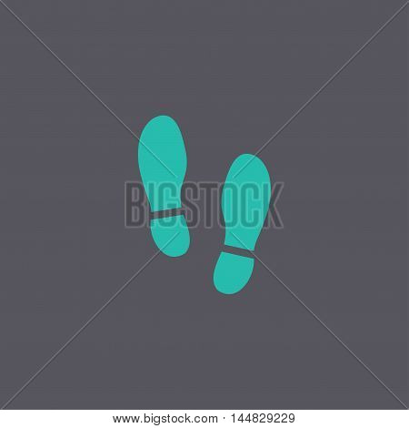 Imprint Soles Shoes Icon. Shoes Print