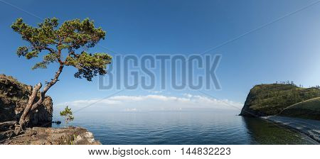 Bay at Baikal Lake in summer, Russia