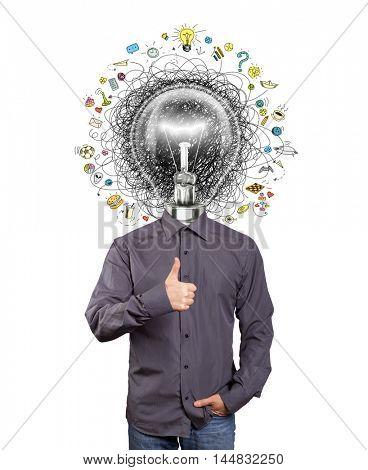 lamp head man have got a great idea