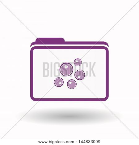 Isolated  Line Art Folder Icon With Oocytes