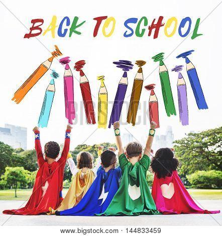 SuperKids Back To School Enjoyment Concept