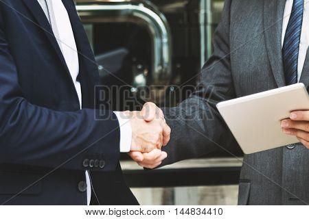 Corporate Businessmen Deal Handshake Concept