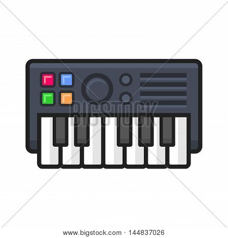 Synthesize Icon on White Background. Vector illustration
