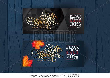 Gift Voucher template. Summer gift voucher, Premium gift voucher and background.