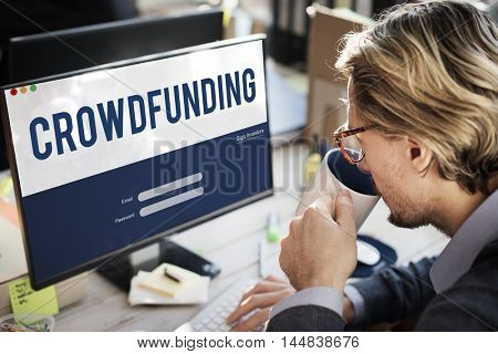Crowdfunding Money Business Enterprise Graphic Concept