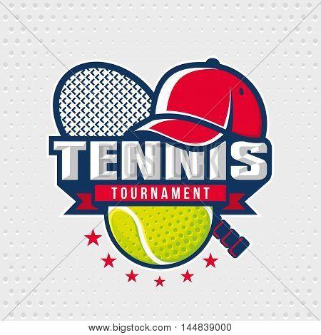 Tennis logo design template, emblem tournament template editable for your design.