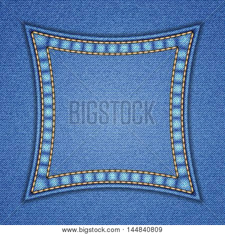 Denim Square Patch