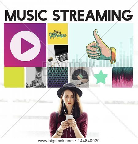 Media Player Audio Entertainment Streaming Concept