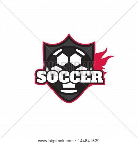 Football logo design soccer team. Soccer football badge