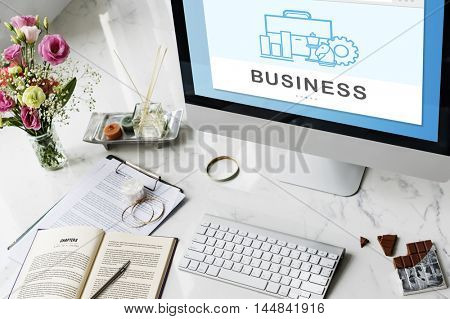 Business Organization Company Tools Concept