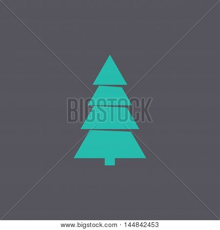 Christmas Tree. Flat Design Style.