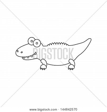 Crocodile line icon. Illustration for web and mobile.