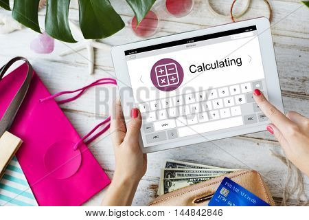 Digital Calculator Webpage Application Concept