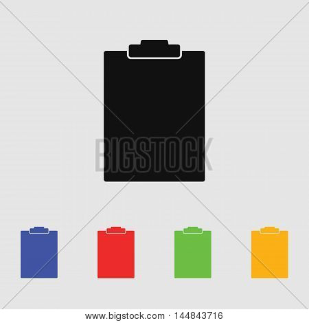 Folder tablet text vector icon for web and mobile.