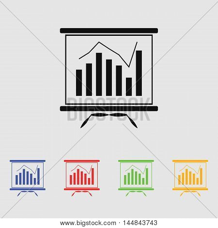 Business chart vector icon for web and mobile.