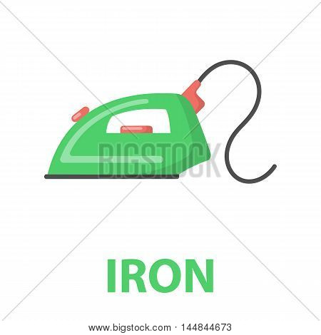 Iron cartoon icon. Illustration for web and mobile.