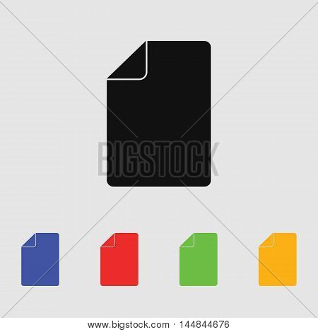 Sheet of paper vector icon for web and mobile