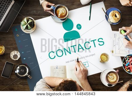 Contact Address Book Communication Information Concept
