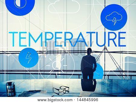 Temperature Forecast Season Cloud Graphic Concept