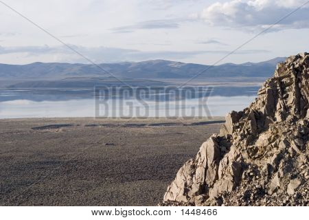 View Of Mono Lake From Above