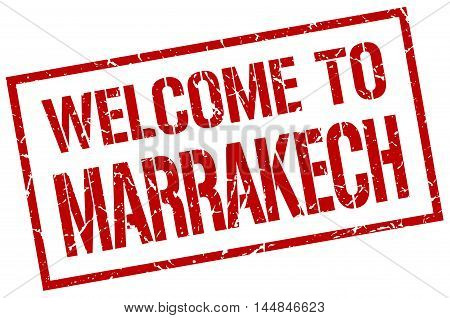 welcome to Marrakech. stamp. grunge square sign