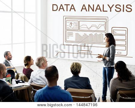 Data Analytics Progress Summary Computer Concept