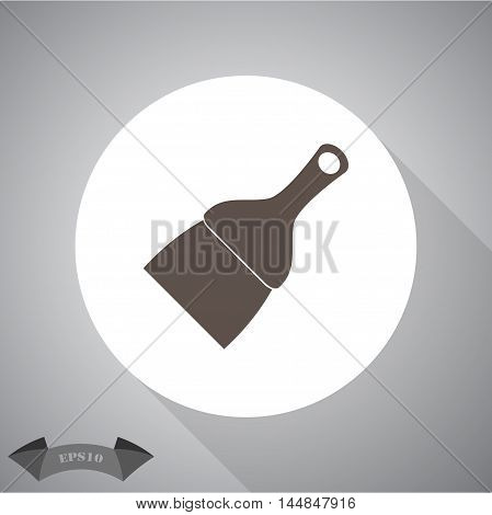 Putty knife . vector icon for web and mobile.