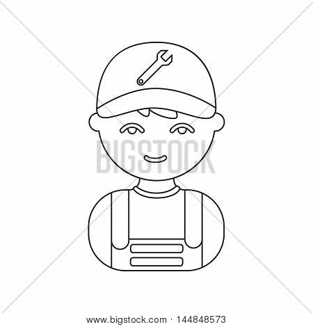 Mechanic line icon. Illustration for web and mobile.