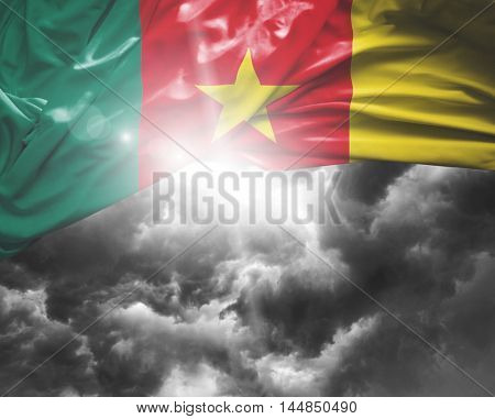 Cameroon flag on a bad day