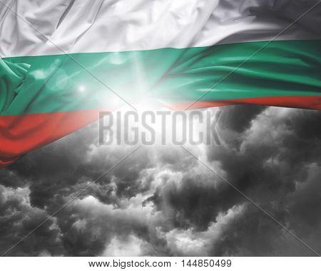 Bulgaria flag on a bad day