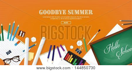 Back to school.Vector illustration.Flat style.Education and online courses, web tutorials, e-learning. Study, creative process. Power of knowledge